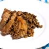 豚肉とレンズ豆の煮込み