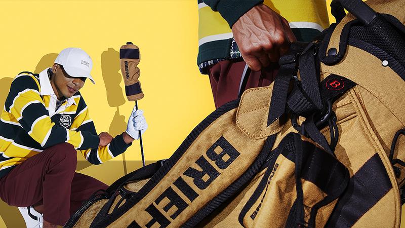 BRIEFINGの大人気ゴルフバッグをBRUDERがカラー別注。スタイリスト3人衆は、キャメルをいかに捌く!?