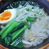 12月22日(火)昼食のおろしうどんと、夕食のネギたっぷりの鍋。