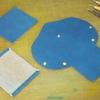 アコーディオン型の小銭・カード入れ(作業工程)