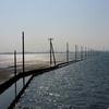 整然と並ぶ電柱が美しい「江川海岸」