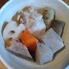 手羽元と根菜とこんにゃくの煮物