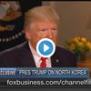 トランプ大統領の北朝鮮情勢に関する米FOXインタビュー動画
