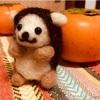 ダイソーの羊毛フェルトキット【ハリネズミ】でウェルカムドールの練習!