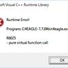 KB4057142 のせいで Eagle 7.7.0 が起動しない