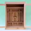 木箱のような箱型の神棚に神具を収めたみたときの参考例