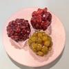 杉並区和田『和菓子 丸中』の3種のおはぎと違ったお豆を使った鹿の子。
