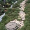狭くて長い庭の小道作り
