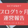 【ブログ】1ヶ月毎日更新してみた【運営報告】