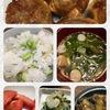 枝豆とみょうがの混ぜ寿司食べたさに、なんとか用意した夕飯です。