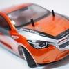 「デミオ」のRC軽量ボディをメタリックオレンジに塗ってみた!タミヤスプレー塗装の手順もご紹介!