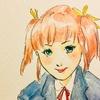 かみなし子初めてのファンアート。ラブイン愛内さんに原画を直接お届け