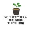 【2021年】5万円以下で買える高配当銘柄 東証1部利回りランキングベスト20銘柄を分析 中編