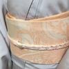 【着付け】片側に柄のある帯締めの結び方・前帯の柄の出し方