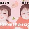 子育て記録【2019年1月】