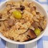 秋の食材で鶏の炊き込みご飯