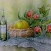 2017年:3月 『果物のある静物画 - 文旦(ブンタン)と椿』