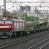 6月30日撮影 東海道線 平塚~大磯間 雨の中いつもの貨物列車2本撮影 1097ㇾ 2079ㇾ