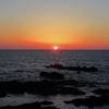 日本海に陽が沈む