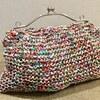リーフィーのバッグ、できあがりました。裏地はまだ付いておりませんが(^-^;編むところは完成ということで。