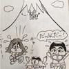 昔友達が描いてくれたビートルズ漫画と、最近描いたイラスト