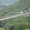 空中散歩【谷瀬の吊り橋】は歩くたびにゆらゆら揺れるスリル満点の吊り橋だった!!奈良県・十津川村