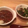 ハヤシライス、ピーマンとしめじの甘辛炒め(レシピ)