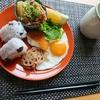黒豆おにぎりプレート【ほっこり朝食】