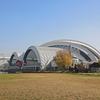 辰巳水泳場と2020オリンピック用新施設地を見る