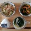 妊婦めし07:ゴーヤーチャンプルー と小松菜と人参の二杯酢和え