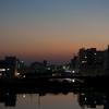和田岬線 丁度夕焼けだったので…