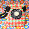 黒電話のカバーを見よう見まねで縫ってみた。