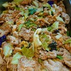 豚肉とキャベツ、ケール類(カーボネロなど)の辛味噌炒め
