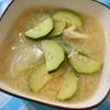 ズッキーニと新玉ねぎの味噌汁
