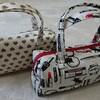 久しぶりのお裁縫。バッグインバッグをつくりました。