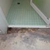 洗面所床 水漏れ補修
