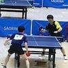 打撃戦になったトーナメント一回戦・一番 2019年第8回米田杯争奪三重県卓球大会