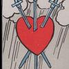☆タロットカードで良くないカードは存在するのか。『ソード3のカード』☆占い師あかりさの考え☆
