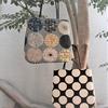 ドロップ型のペタンコバッグ。縫製編。
