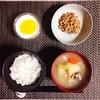 石狩汁、小粒納豆。