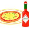 熱々ピザのおともにタバスコを