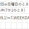 WEEKDAY【エクセル練習】