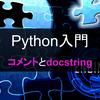 【Python入門】コメントとdocstring