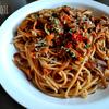 キノコとツナのトマトスパゲッティ