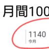 祝・月間1000PV突破、ありがとうございます!!