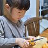 可愛い子には柿を剥かせろ。