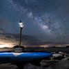 【天体撮影記 第157夜】 山口県 周防大島(すおうおおしま)の星のビーチ 小さな星の灯台と輝く天の川