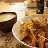 低温調理の豚肉をつかったカルボナーラ