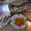 幸運な病のレシピ( 1231 )朝 :カレー仕込み、イワシ、タケノコと蕨の味噌汁(ジャガイモ、薄揚げ)