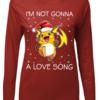 Cute I'm Not Gonna A Love Song Raichu Christmas shirt